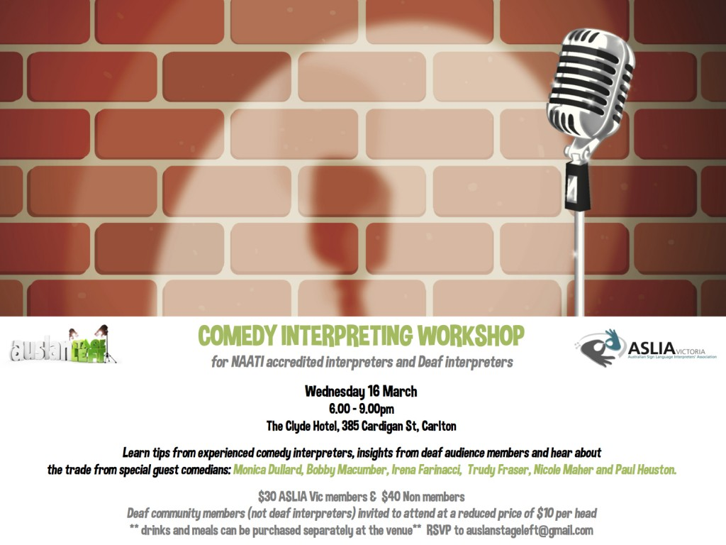 Comedy Interpreting Workshop