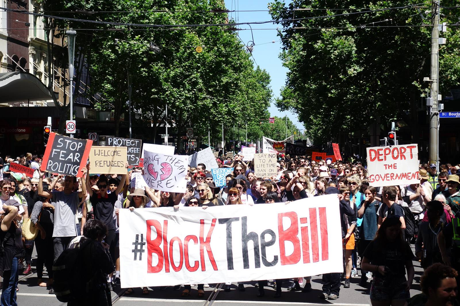 Block The Bill Snap Action Feb 2017! Narrm - State Library [Melbourne]