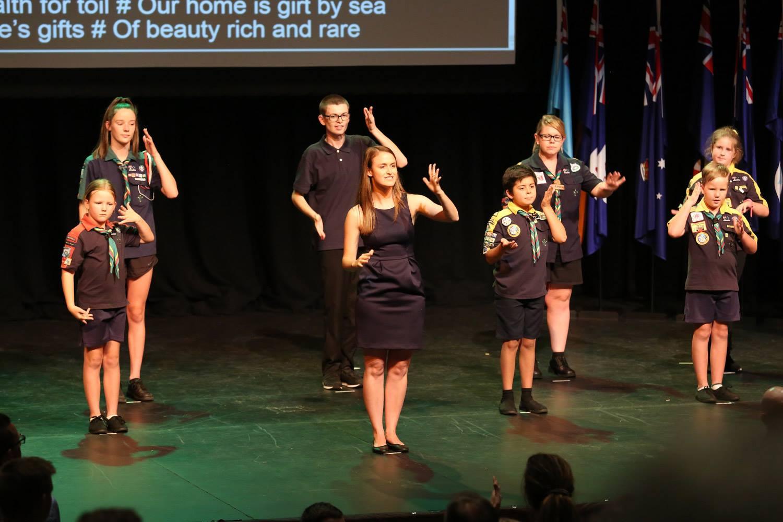 Australian Deaf Games - Opening Anthem [Albury]