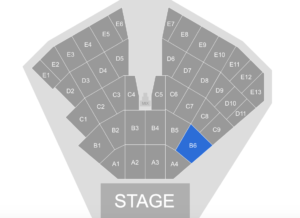 Seating Map - Hunter - Rod Stewart