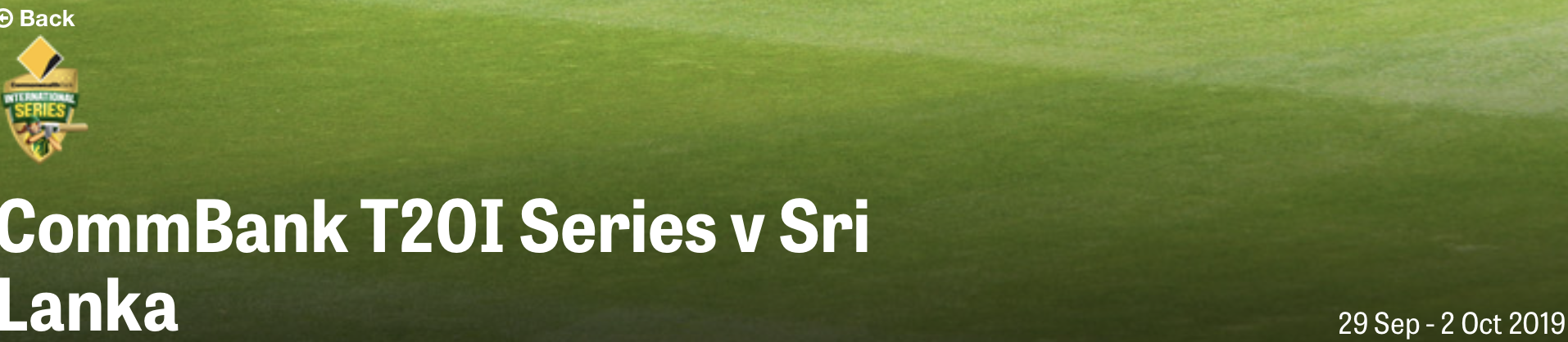 Cricket T01 Series : Women Aus V Sri Lanka [Sydney]