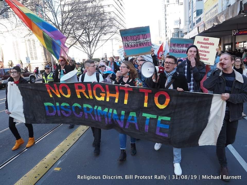 No right to discriminate! Protest to #killthebills TODAY! [Melbourne]