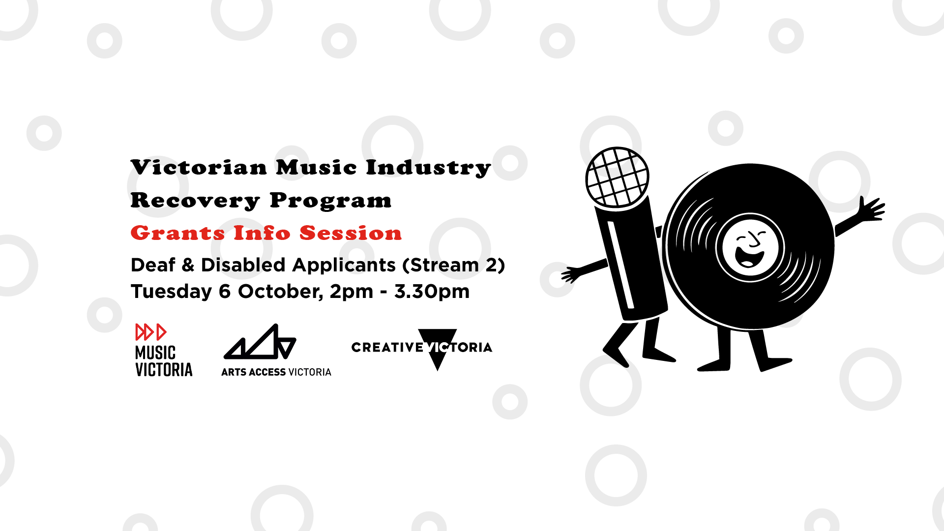 Music Victoria's Grants Session: Deaf & Disabled Applicants [Online]