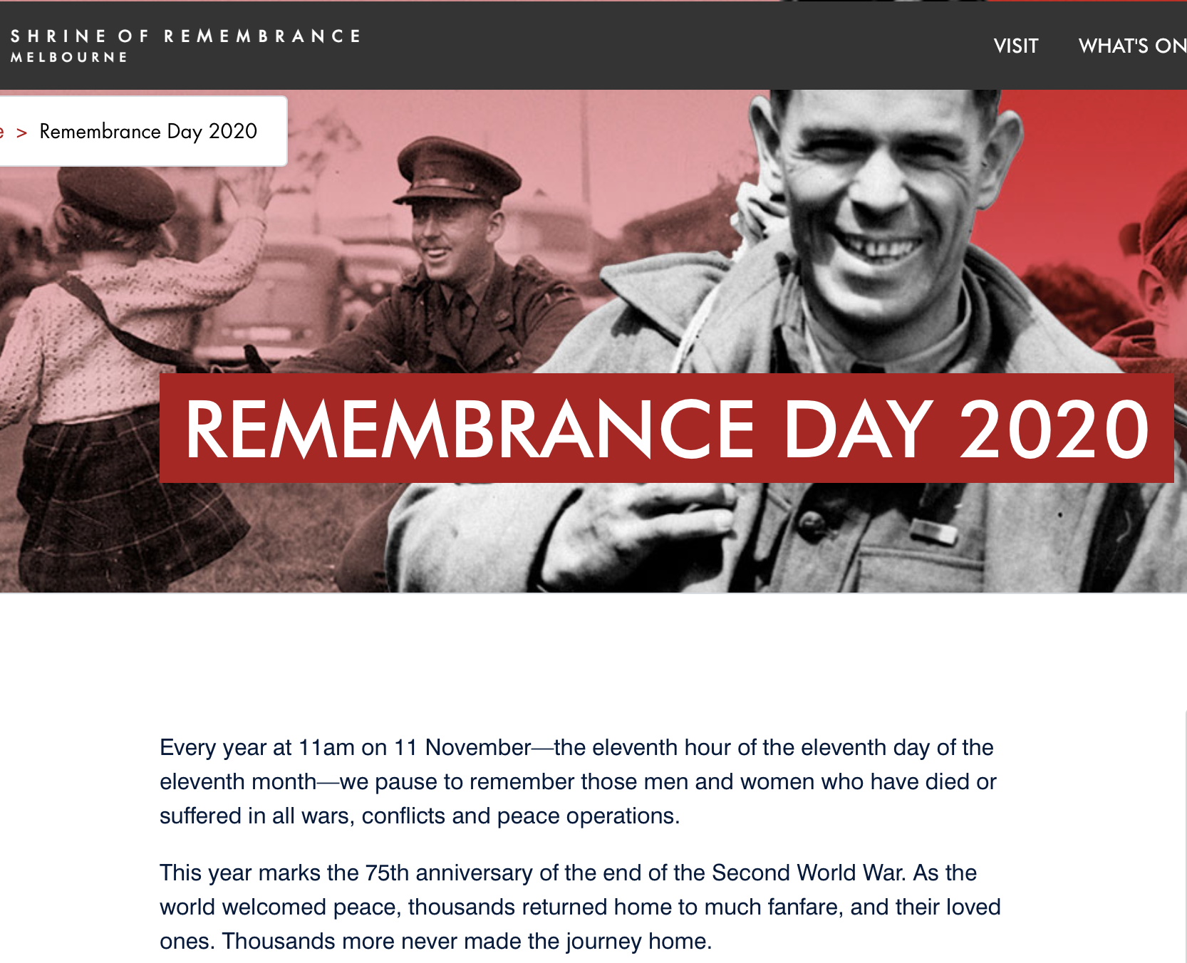 Remembrance Day Service 2020 [Victoria]