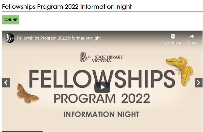 Fellowships Program (SLV) [Online]