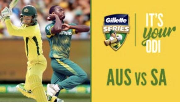 Gillette Series Cricket - ODI - AUS vs SA [Hobart]