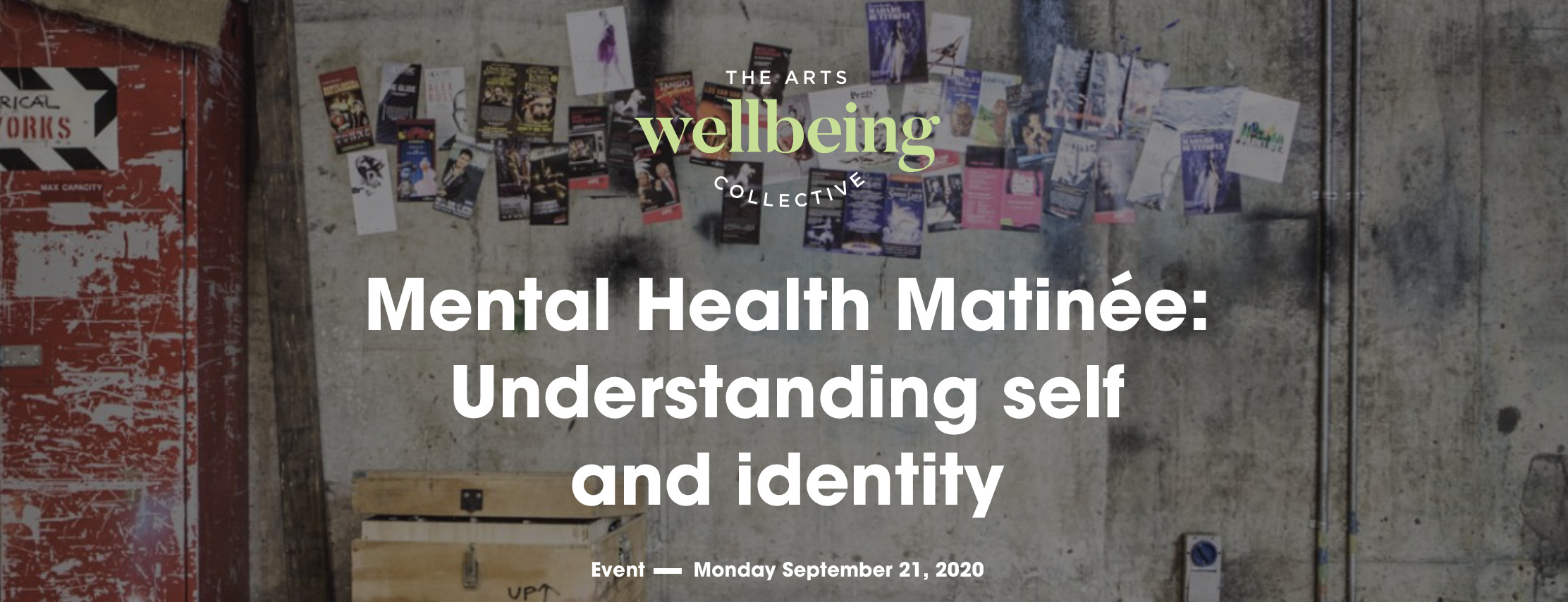 Mental Health Matinée - Connect, rest and repair (Arts Wellbeing Collective) [Online]